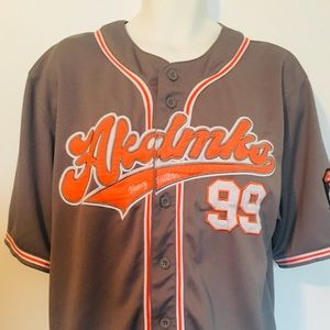 Akademiks Heavy Hitters Baseball Jersey Size L